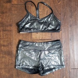 Two piece ivivva dance set. Shorts and sports bra
